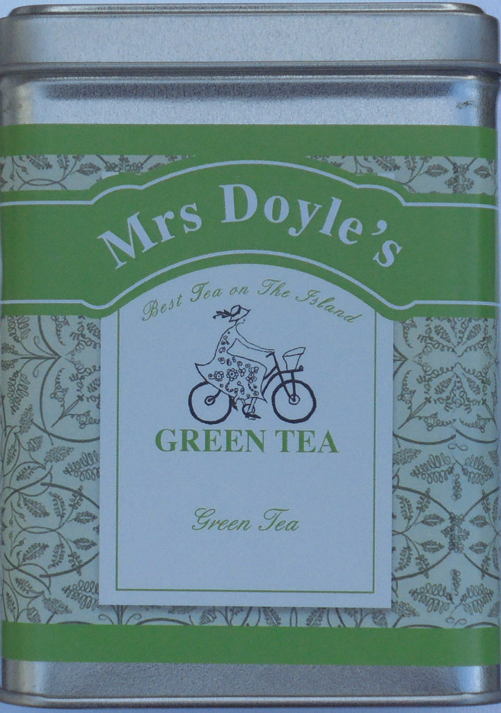 Mrs Doyle's range of green teas include loose leaf Sencha green tea, Yunnan green tea , minty green tea , vanilla green tea, gunpowder & loose leaf organic green tea