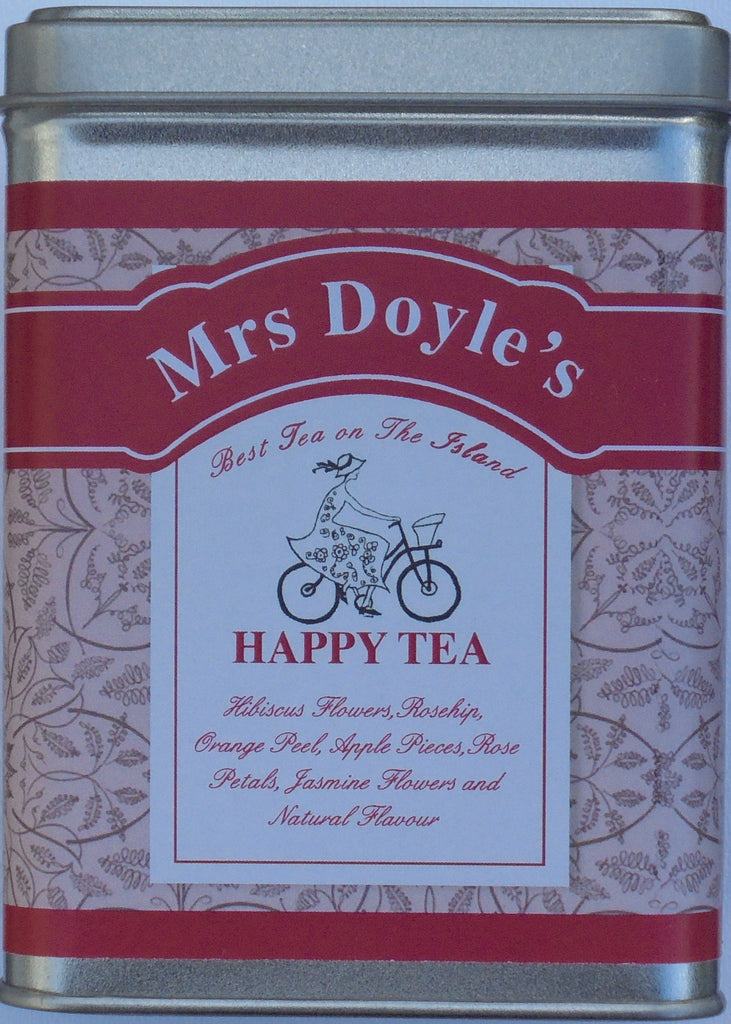Mrs Doyle's range of  Loose Leaf Herbal teas include Happy fruity tea , Sleepy Chamomile tea & Chillout minty tea