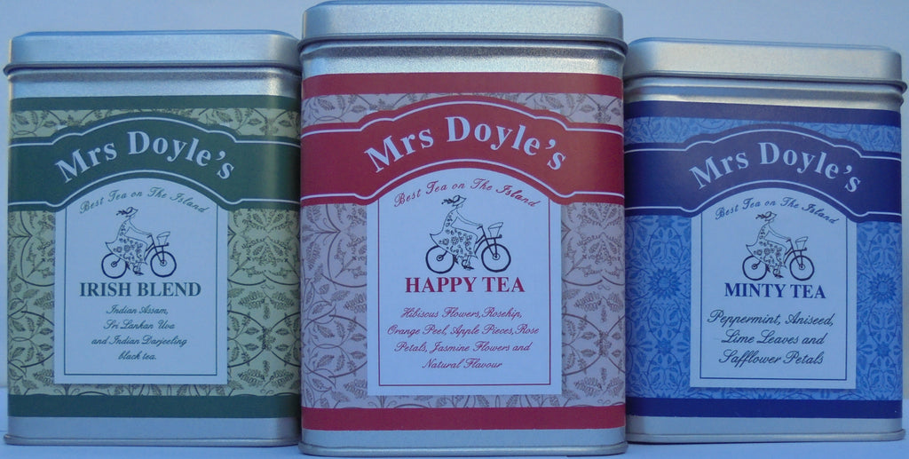 Mrs Doyle's Tea Caddies make perfect tea gifts and come in a range of loose leaf teas and herbal infusions