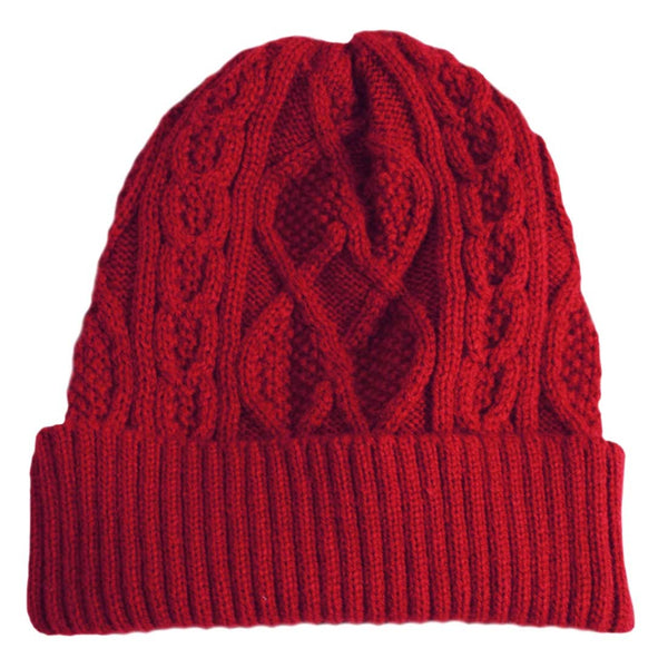 Mrs Doyle's little Red Aran Island hat, it's design is timeless, wonderful craftsmanship, sure you will feel like a real islander, it's the perfect Irish gift