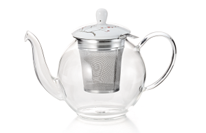 Mrs Doyle's Glass Tea Pot with Filter perfect for tea for two