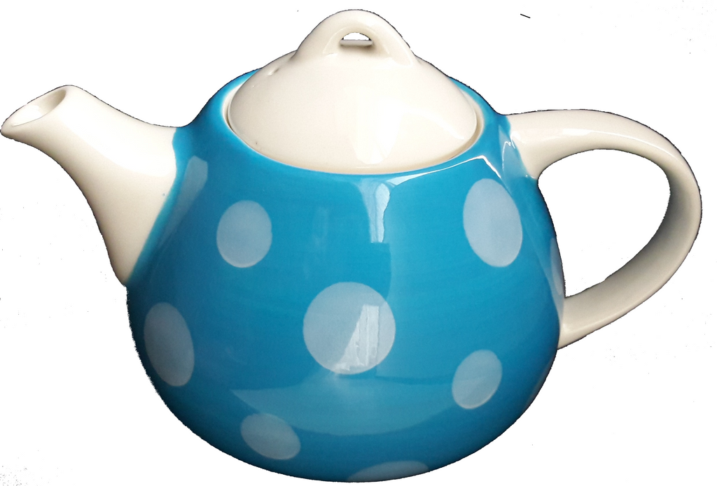 Mrs Doyle's  Big Blue Ceramic Cosy tea pot holds 4 cups of tea