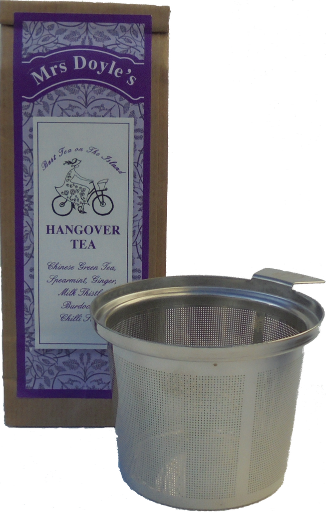 Tea Cup Infuser with pack of hangover tea  gift set