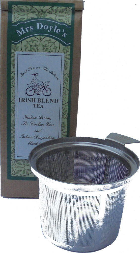 One pack of Mrs Doyle's decent Irish tea and a great easy use infuser