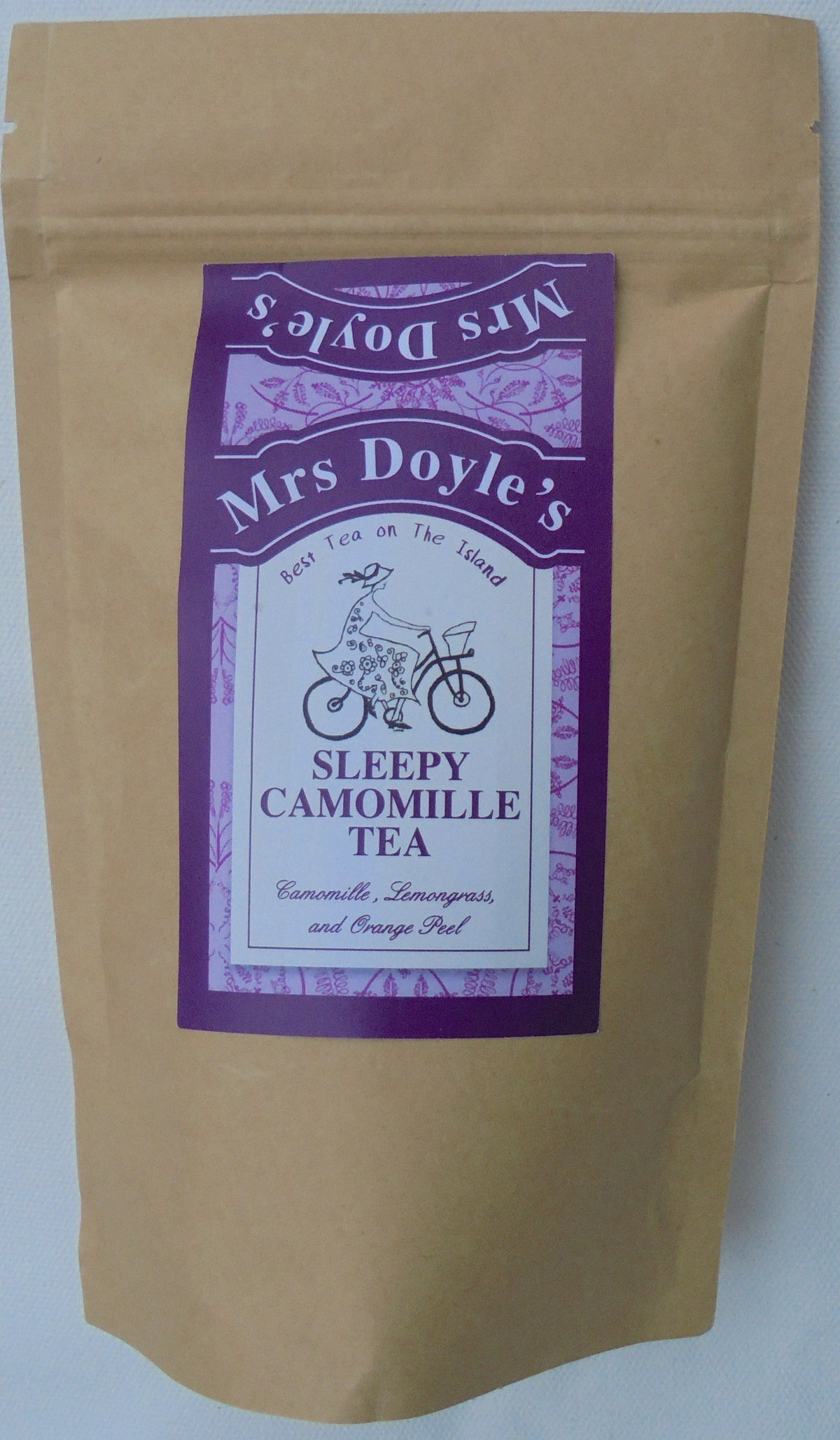 Mrs Doyle's Sleepy Chamomile tea is a blend of chamomile flowers, lemon