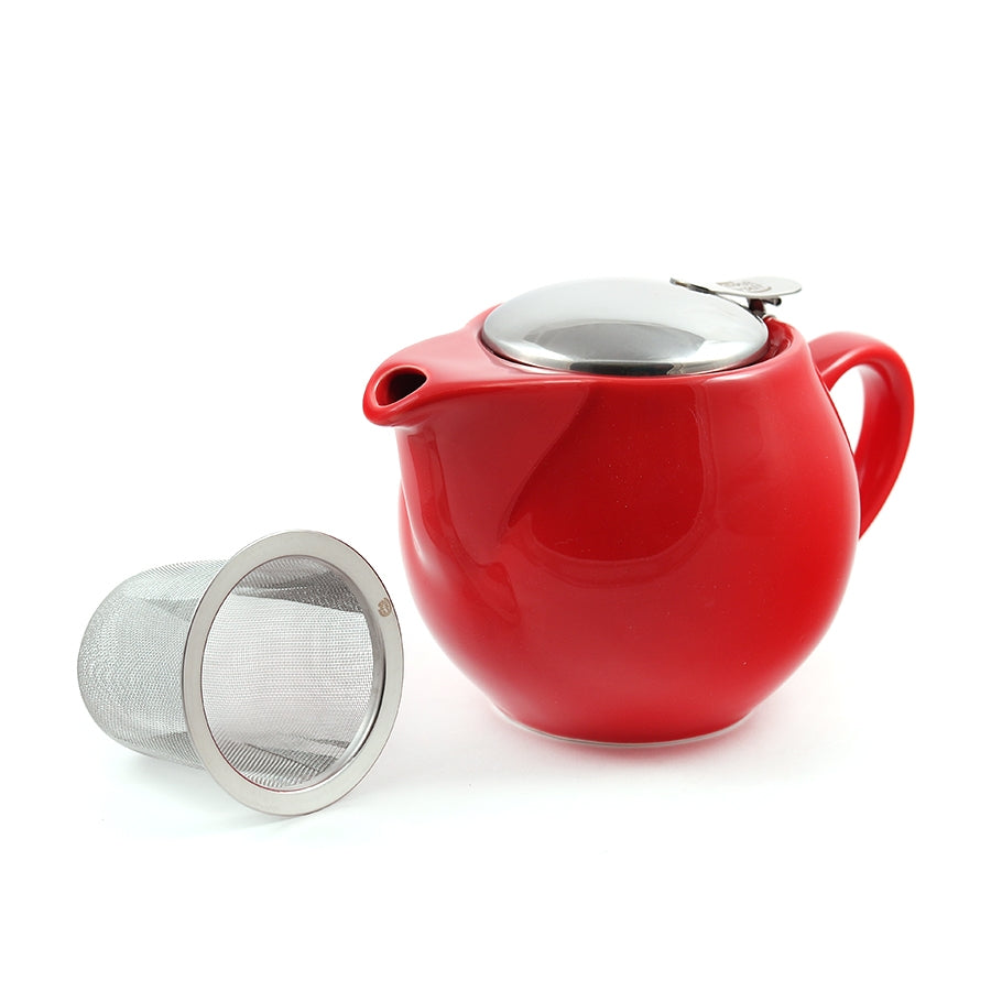 Mrs Doyle's Little Red Ceramic Tea Pot, with filter infuser, it's perfect for making one or two cups of great loose leaf  Irish tea, and it's dishwasher safe