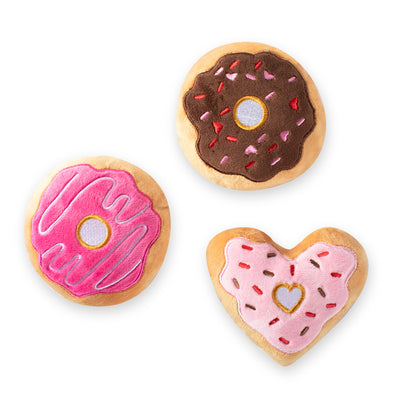 Donut You Know I Love You Dog Toy Set