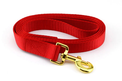 Nylon Webbing Leash - Red