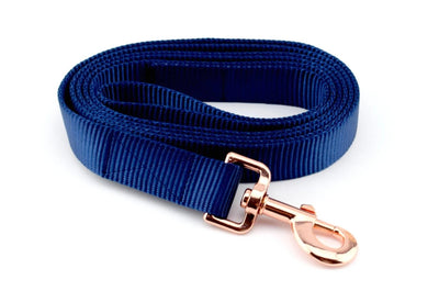 Nylon Webbing Leash - Navy Blue
