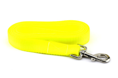 Nylon Webbing Leash - Neon Yellow