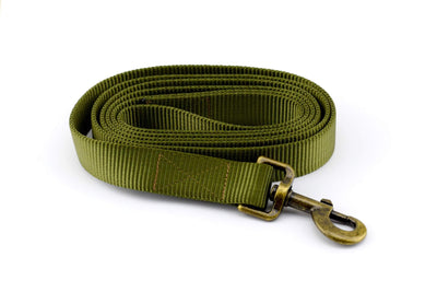 Nylon Webbing Leash - Hunter Green