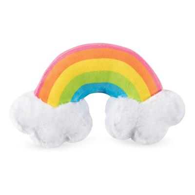 Rainbow With Clouds Plush Dog Toy