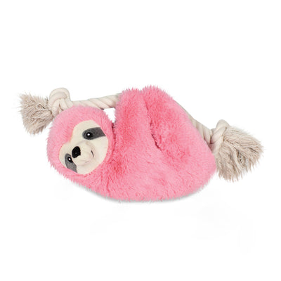Sloth On A Rope Dog Toy - Pink