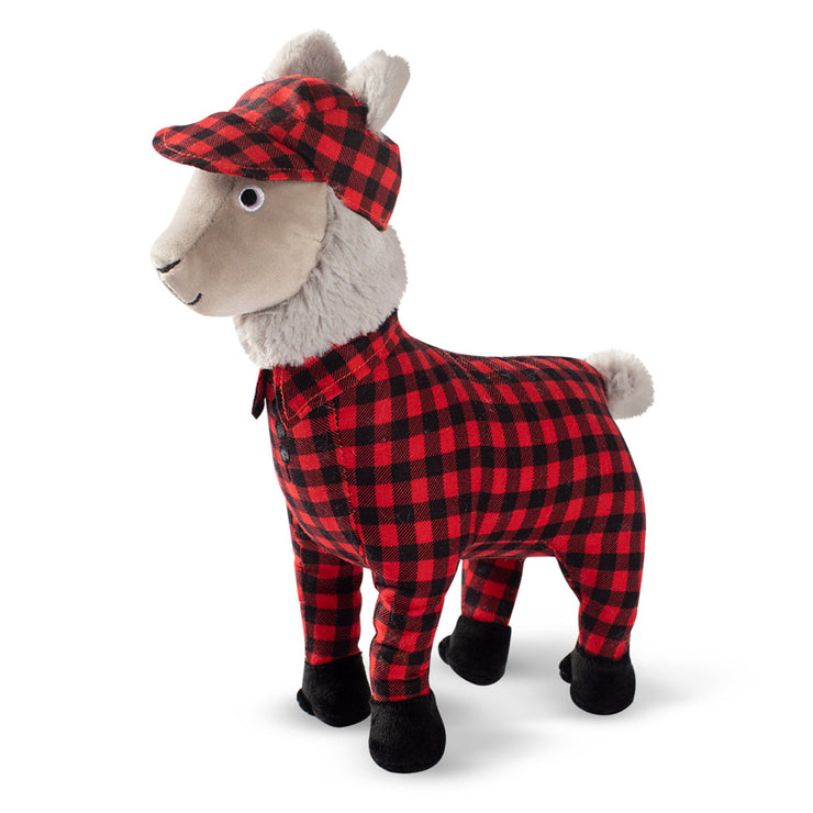 Feelin' Festive Pajama Lama Dog Toy - Buffalo Plaid