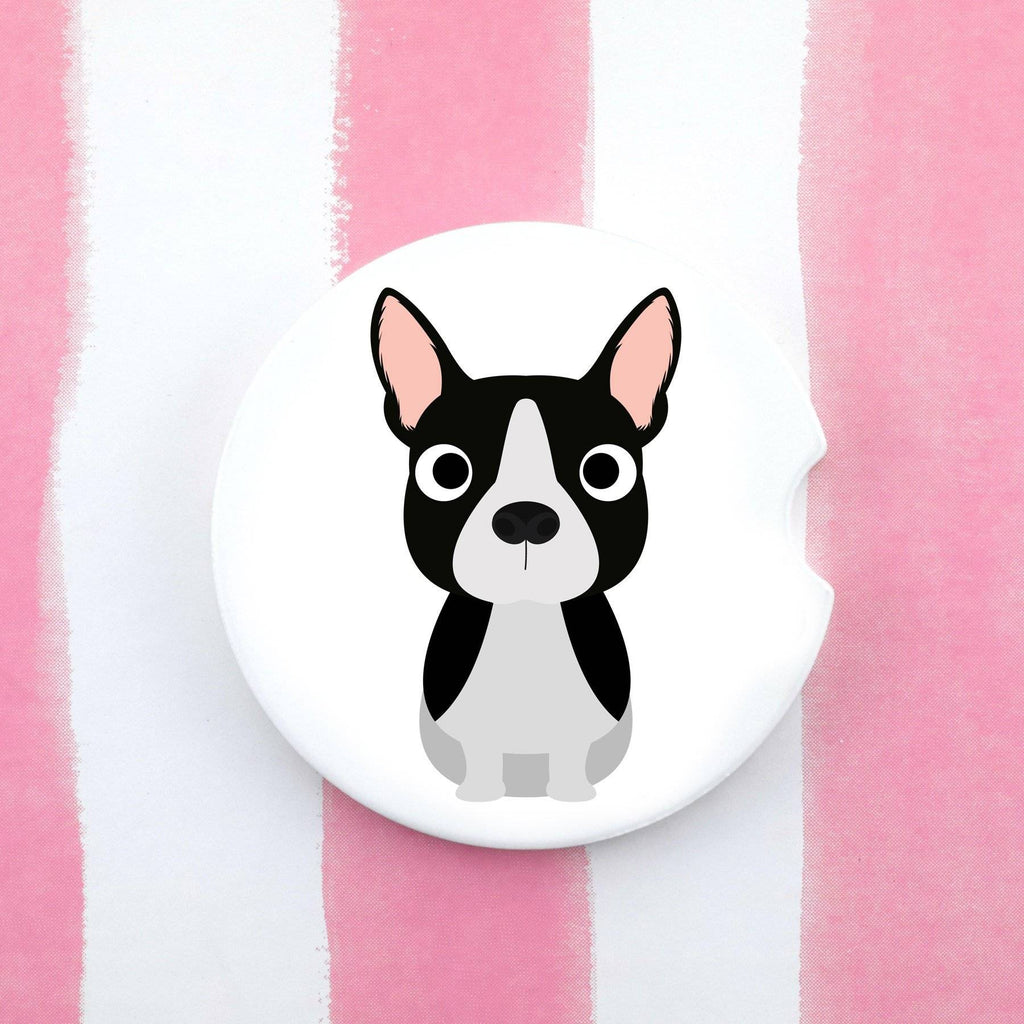 Car Coaster - Boston Terrier Car Coaster