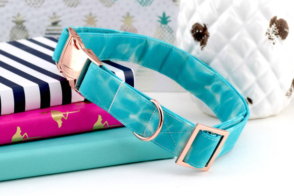 Dog Collar - Aqua Blue Water
