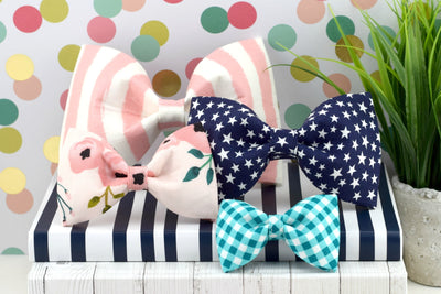 Dog Collar Bow Tie - Slide-On Dog Collar Bow Tie - Available in ANY print in our shop!