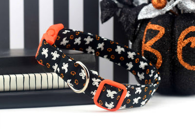Dog Collar - Halloween Ghosts and Pumpkins