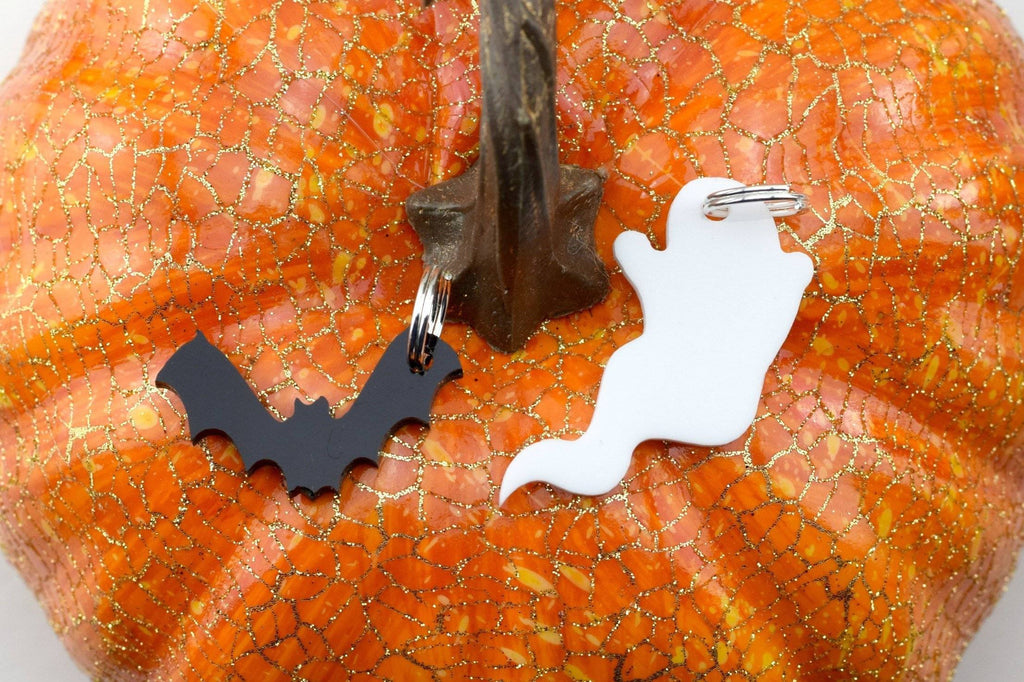 Acrylic Charm for Dog Collars and Key Fobs - Halloween Themed