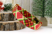 Dog Collar - Holiday Plaid