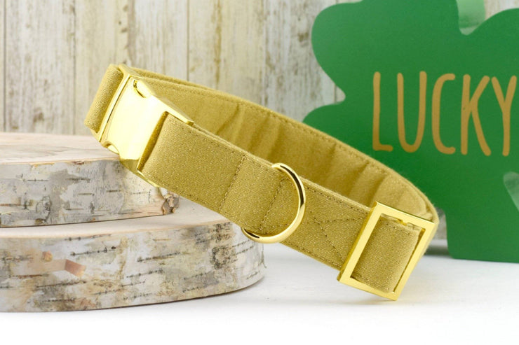 Dog Collar - Gold with Gold GLITTER