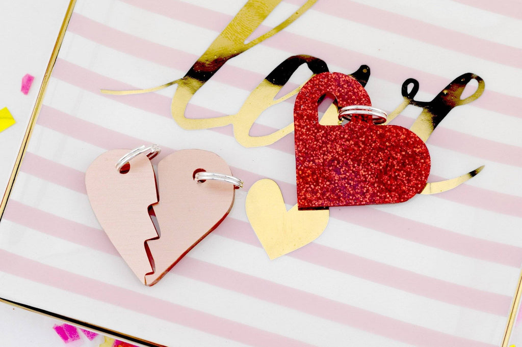 Acrylic Charm for Dog Collars and Key Fobs - Valentine's Day Themed