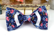 Girly Dog Collar Bow - Available in ANY print in our shop - Slide-On Dog Collar Bow - Sandy Paws Collar Co