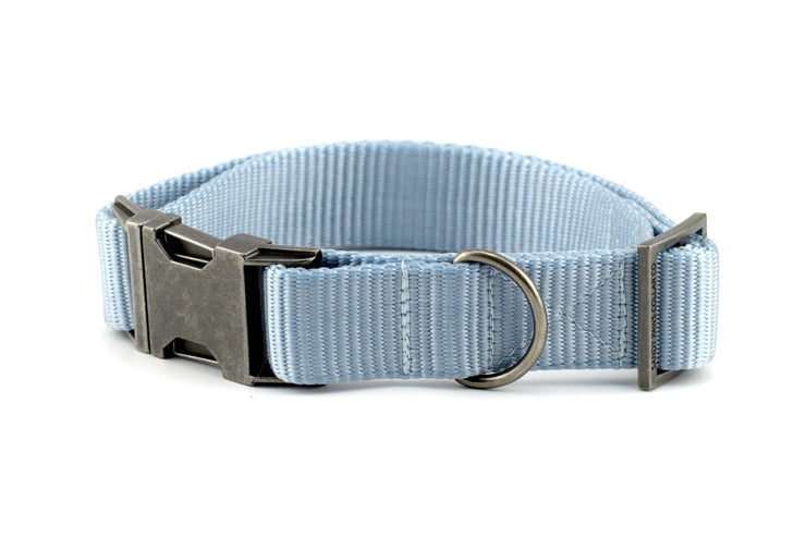 Webbing Dog Collar - Solid Light Blue
