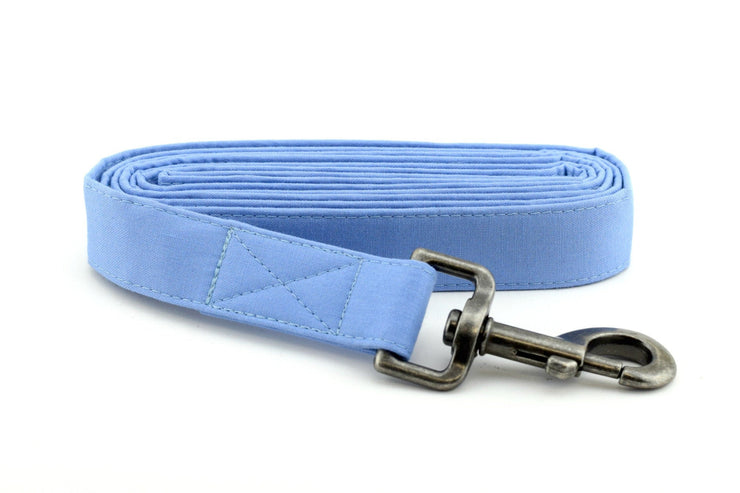 Solid Periwinkle Dog Leash ~ Solid Fabric Dog Leash - Fashion Dog Leash ~ Antique Silver Hardware ~ Sandy Paws Collar Co