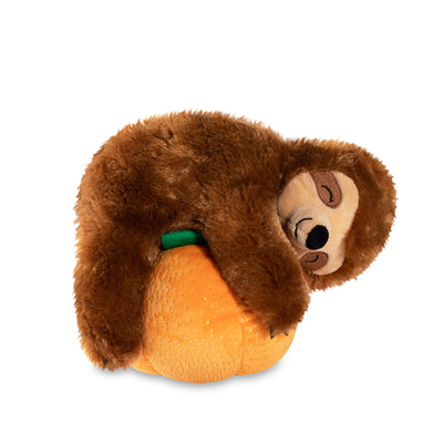 Pumpkin Sloth Plush Dog Toy