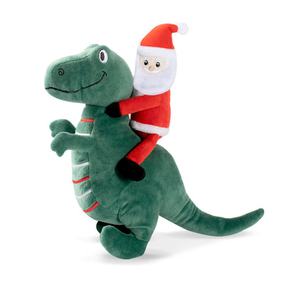 Santa-Saurus-Rex Dog Toy