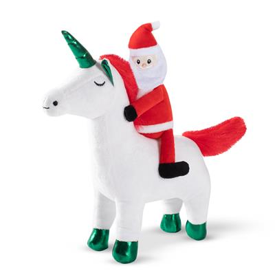 Santa Unicorn Dog Toy