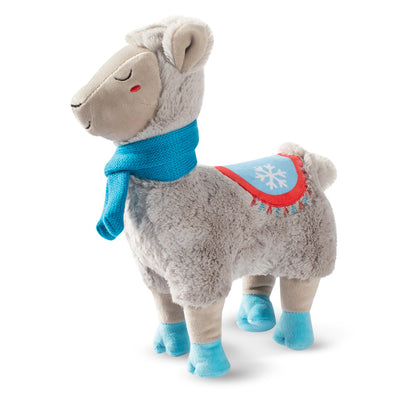 Tall Scarf Winter Llama Dog Toy