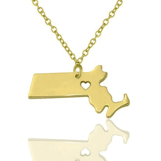Massachusetts Charm Necklace - Slackwater Cove