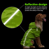 Dog Raincoat in Safety Orange and Green - Slackwater Cove
