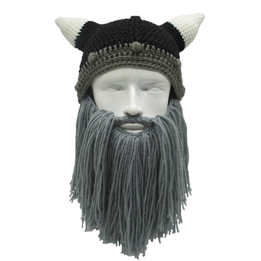 ... Knit Viking Hat with Beard and Horns - Slackwater Cove 5c9b8d96828
