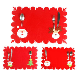 Adorable Christmas Placemat and Silverware Holder - Slackwater Cove