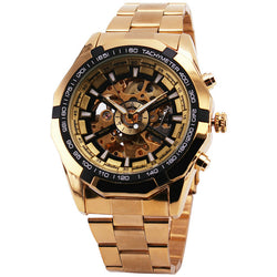 Gold Skeleton Watch with Automatic Mechanical Winding - Slackwater Cove