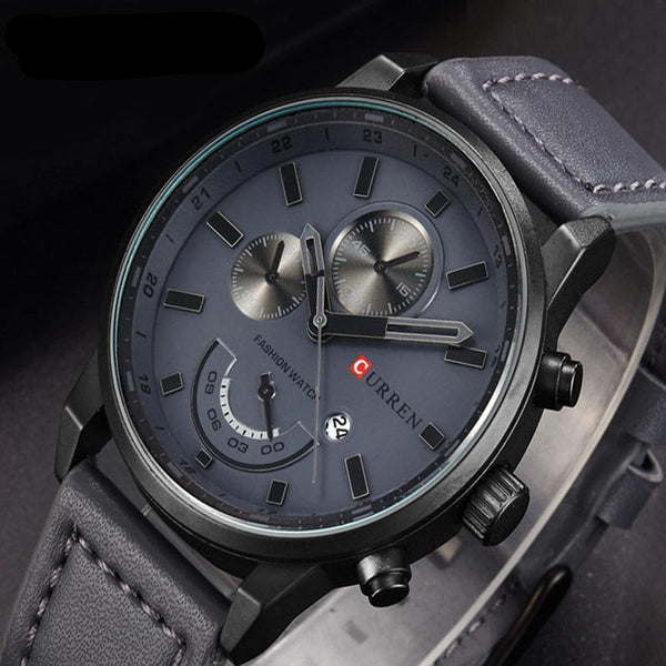 Mens Sport Wristwatch with leather bands. Three amazing styles. - Slackwater Cove