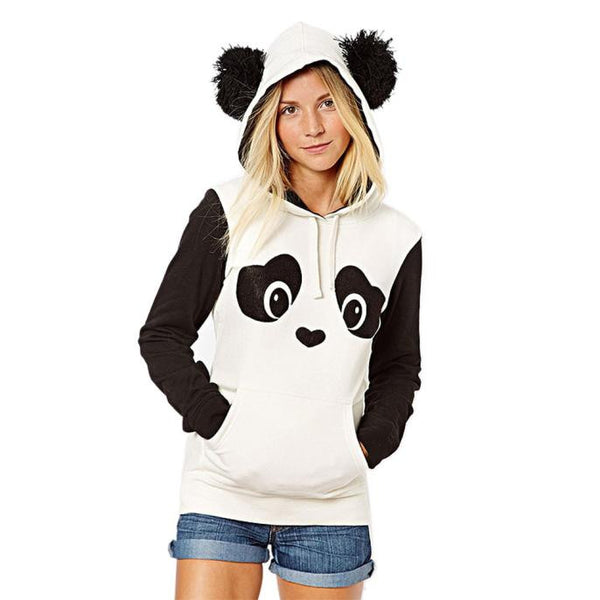 Womens Panda Pocket Hoodie Sweatshirt - Slackwater Cove