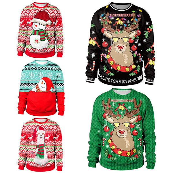 Cool Reindeer Christmas Sweaters - Slackwater Cove