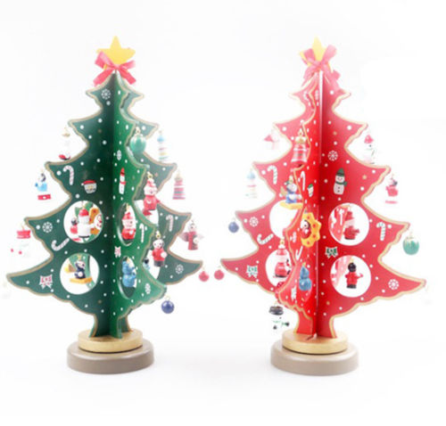 Festive Table Top Wooden Christmas Tree - Slackwater Cove