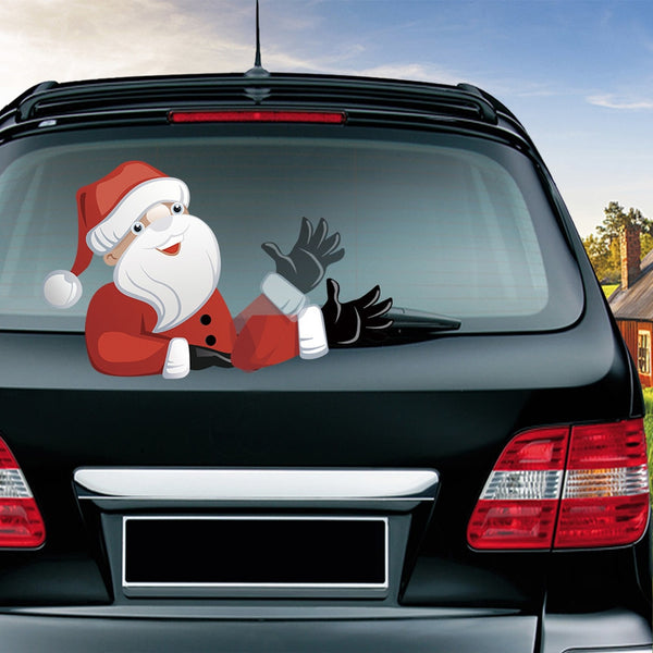 Waving Santa Windshield Decal - Slackwater Cove