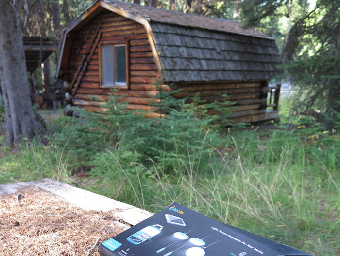 Emergency Kit at Off Grid Cabin