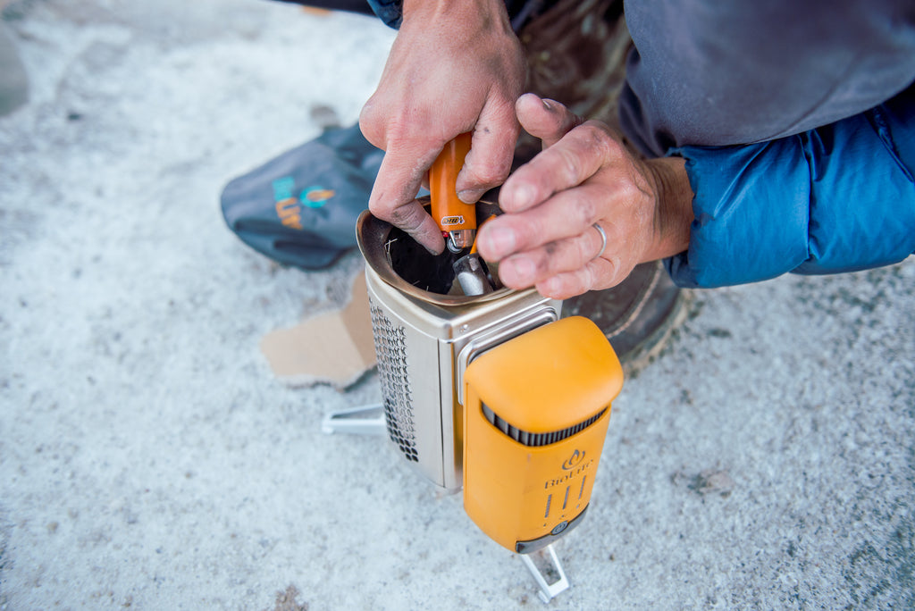 BioLite Camp Stove Burning in Colorado