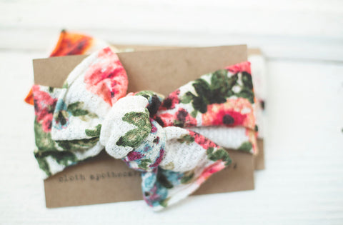 Fresh Floral Cloth Knot Headwrap - Baby Headband - Baby Bow