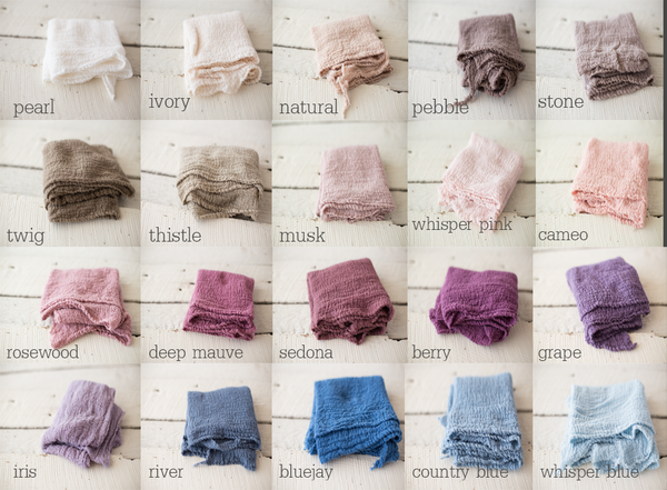 Cheesecloth Wrap - Newborn Wrap - Rustic Wrap - Choose 1- Extended Length 122-124 inches