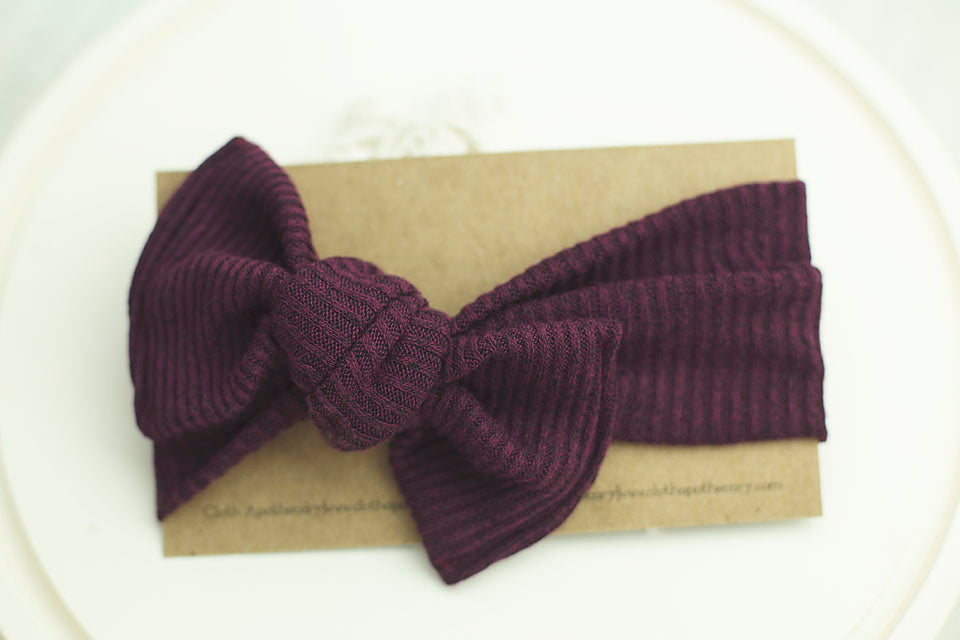 Mulberry Cloth Knot Headwrap - Baby Headband - Baby Bow - Headwrap