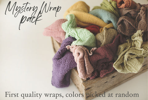 Mystery Bundle Cheesecloth Wrap - Newborn Wrap - Organic Rustic Wraps - 3 Piece Pack - SALE