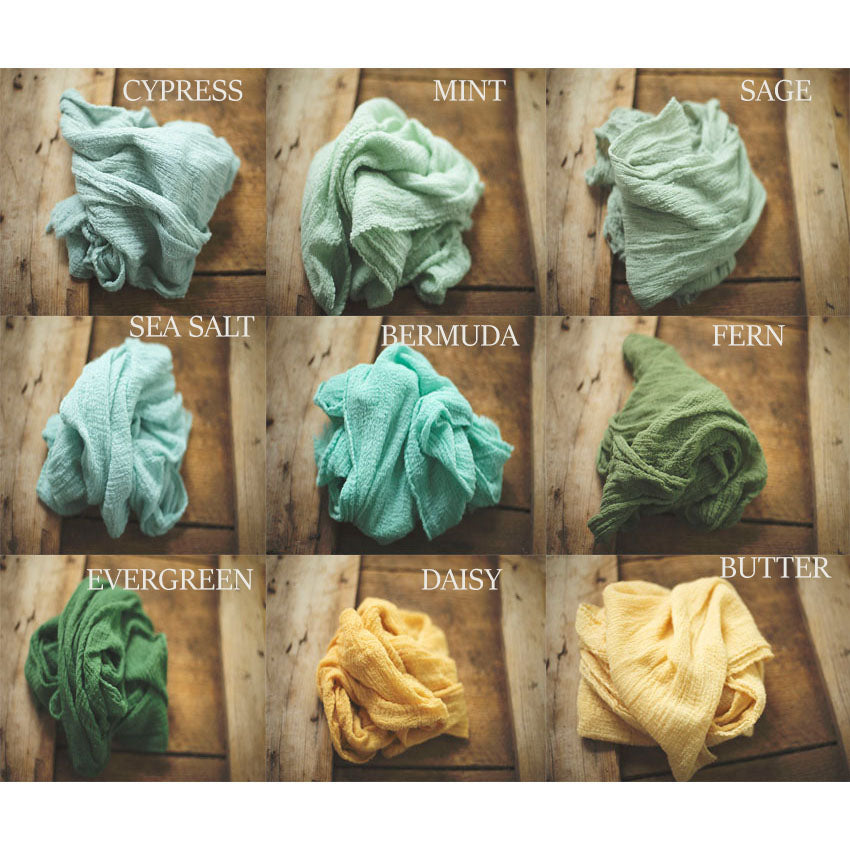 Newborn Wraps -  Choose 5 -RUSTIC WRAPS  - Baby Wraps -  Cheesecloth Wraps